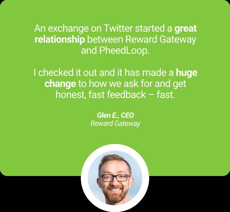 Glenn Elliott Reward Gateway testimonial