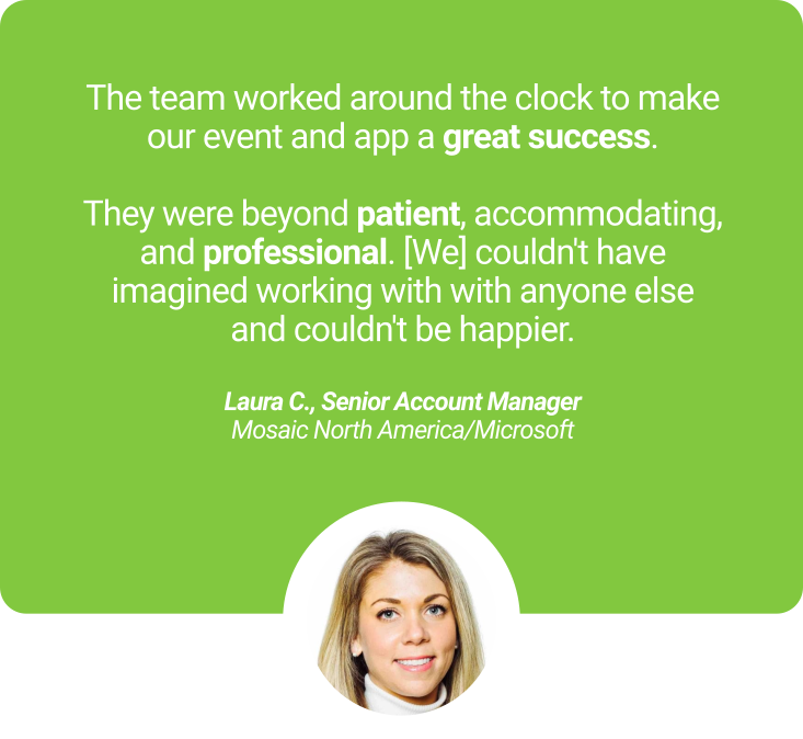 Laura Clumpus Mosaic Microsoft testimonial